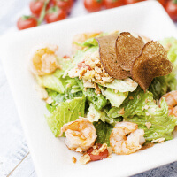 Ceasar salad with shrimps